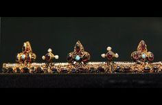 Funeral crown of the queen, Anna of Antioch - Found from the graves of Béla III (1172-96), via Flickr.