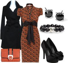 """""""Black & Orange"""" by stay-at-home-mom ❤ liked on Polyvore"""