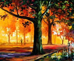 The Light Of The Night - Palette Knife Oil Painting On Canvas By Leonid Afremov Painting by Leonid Afremov