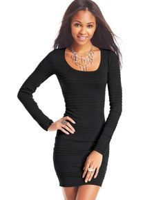 Black bodycon dress with very pretty necklace to go along with it!!