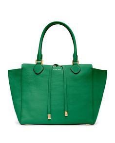 Michael Kors Large Miranda Natural Grained Tote is one of my favorites for this spring.  It is green like grass, and dandelion stems, and shamrocks, and everything perfectly spring-related!