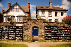 """Hay-on-Wye is a small market town in Powys, Wales known as the """"town of bookshops."""""""