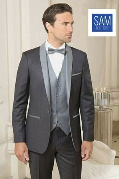 Latest charcoal grey smoking suit by Sam Boutique Smoking Homme Mariage 4f4fd3ee238