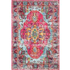 nuLOOM Distressed Abstract Vintage Oriental Multi Rug ($357) ❤ liked on Polyvore featuring home, rugs, pile rug, rectangular rugs, rectangle rugs, nuloom area rugs and plush area rugs