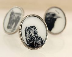 Owl Ring by Gregthings on Etsy, $35.00