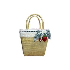 Strawberry Basket Bag: Angelic Pretty ❤ liked on Polyvore featuring bags