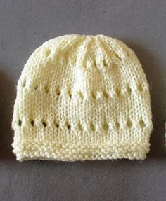 These cute little preemie baby hats can be made in next to no time!