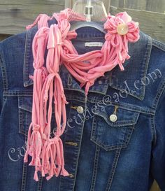 Upcycled Tshirt to Funky Scarf. <3