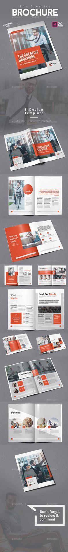 The Creative Bochure Vol.3 — InDesign INDD #template #charity • Download ➝ https://graphicriver.net/item/the-creative-bochure-vol3/19522742?ref=pxcr