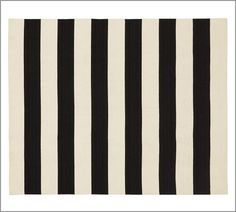 Awning Stripe Dhurrie Rug | Pottery Barn