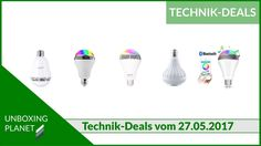 Technik-Deals Video über 5 LED-Lampen mit Bluetooth-Lautsprecher #technikdeals #video #ledlampen #bluetoothlautsprecher