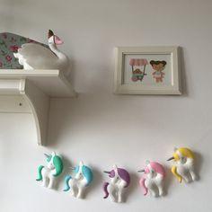 Rainbow Unicorn nursery decor by NikisBirdhouse on Etsy