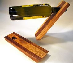 Pair of Balancing Bottle Holders | Wooden balancing wine bot… | Flickr
