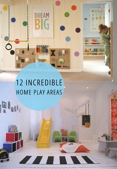 These amazing play areas could work in just about any home! Don't they look like fun?