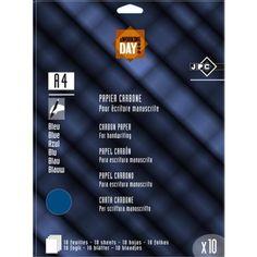 Papier carbone bleu 10 feuilles - Fournitures scolaires Registres et manifolds