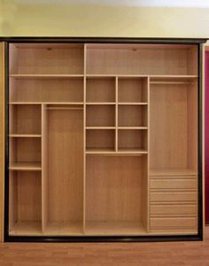Interiores armarios empotrados a medida Cupboard Design, Wardrobe Closet, Bedroom Closet Design, Room Design, Closet, Closet Cabinets, Closet Shelves, Cupboard, Bedroom Design