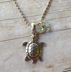 Silver Turtle Necklace by MallEadornments on Etsy, $15.00 #necklace #jewelry #turtle #ocean