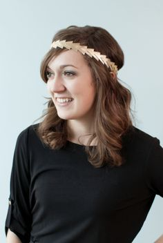 Leather Triangle Headband. Make It Now in Cricut Design Space