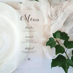 Vellum menu card,menu card,calligraphy menu card,modern menu card,wedding menu card,custom menu card