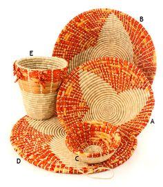 Handwoven baskets from Tanzania-beautiful!