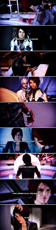 — I'm fine. — The hell you are! #masseffect