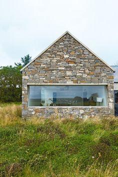 Explore This Super Contemporary Century Stone Cottage Conversion Modern Bungalow House, Cottage Style House Plans, Bungalow House Plans, Barn Renovation, Cottage Renovation, Stone Cottages, Stone Houses, Contemporary Sheds, Irish Cottage