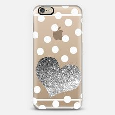Glitter heart iPhone case so cute