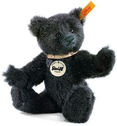 Retired Steiff Bears - CLASSIC TEDDY BEAR ALPACA BLK/GREY 18CM Steiff Teddy Bear, Teddy Bears, Black Bear, Black And Grey, Teddy Bear Cartoon, Paddington Bear, Bear Art, Pooh Bear, Plush