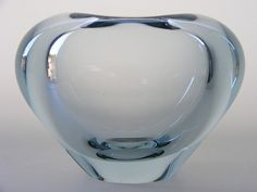 "Holmegaard ""Menuet"" glass vase designed by Per Lutken"