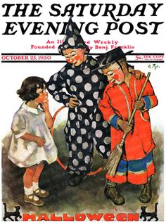 Trick or Treat ~ Halloween cover for The Saturday Evening Post by Ellen Pyle, October 1930.