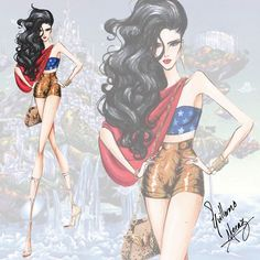 """Dc comics inspired looks by Guillermo Meraz. 5. """"Wonder Woman"""""""