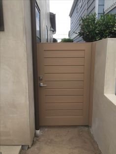 Custom Contemporary Splined Body Wood Gate by Garden Passages