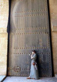 A tribute to Moroccan doors. You know you're in Morocco if you see a door like this! Huge.