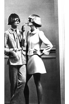 Minnie was always happy to light Inez's fire. (Photo by Helmut Newton, 1970.)