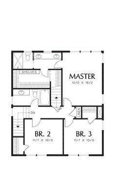 Craftsman Style House Plan - 3 Beds 2.5 Baths 1925 Sq/Ft Plan #48-489 - Houseplans.com Hall Closet, Craftsman Style House Plans, Open Plan Kitchen, Building Plans, Kitchen Living, Second Floor, Master Suite, Square Feet, Central Island