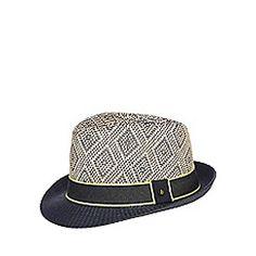 de5b6ef0f015 Baker by Ted Baker - Boys  navy diamond trilby hat Baker Boy