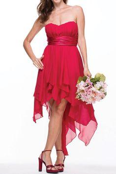 Bridesmaid Dress Evening Dresses under $80  710  Flirty Hemline!  NEW ARRIVAL Colors Dark Turquoise, Red, Coral, Fuchsia, Dark Lilac ,