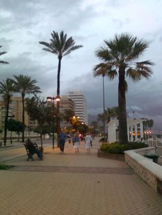 Stella Maris Fuengirola at the far left and Promenade by Marion Dunne - September 2012