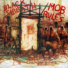 "The Mob Rules - Black Sabbath I still remember listening to WPLJ radio station around the time when this album first came out. The DJ came on and said.""This is something new from Black Sabbath"", and she played the song Voodoo. I was blown Rock Album Covers, Classic Album Covers, Music Album Covers, Music Albums, Black Sabbath Album Covers, Black Sabbath Albums, Hard Rock, Heavy Metal Music, Heavy Metal Bands"
