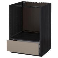 METOD / MAXIMERA, Unterschrank für Ofen mit Schubl, schwarz, dunkelbeige Jetzt bestellen unter: https://moebel.ladendirekt.de/bad/badmoebel/unterschraenke/?uid=066624f9-b50c-56db-8575-81a6b512e5af&utm_source=pinterest&utm_medium=pin&utm_campaign=boards #unterschraenke #bad #badmoebel