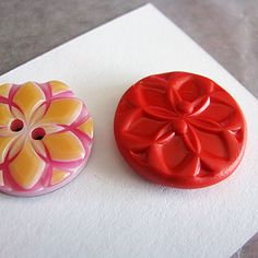 Make your own buttons out of Polymer Clay