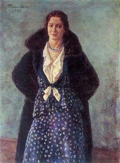 Portrait of the actress Angelina Osipovna Stepanova, 1933 by Pyotr Konchalovsky (1876-1956)