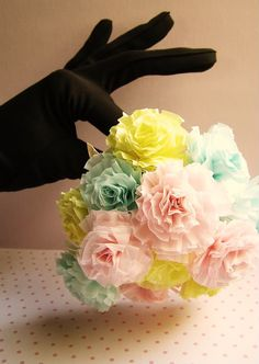 DIY-Cupcake Liner Flower Carnations (great for Valentine's Day or For Party Decor)