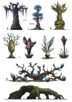 Fantasy Plants Wallpapers) – Free Backgrounds and Wallpapers Alien Concept Art, Game Concept Art, Fantasy Landscape, Fantasy Art, Vegetal Concept, Alien Plants, Environment Concept, Game Environment, 2d Art