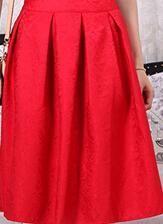 Saiqigui Summer Vintage Skirt High Waist Work Wear Midi Skirts Women American Apparel