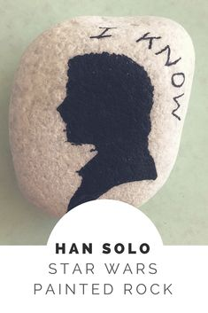 Easy Han Solo painted rock to celebrate the release of Solo: A Star Wars Story #hansolo #starwars
