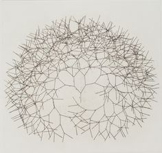 """Tony Cragg Branching Line, 1990 Hard ground etching printed in black and red Image Size: x """" Paper Size: 26 x """" Edition Size: 15 Publisher: Crown Point Press Printer: Lawrence Hamlin Music Visualization, Red Images, Crown Point, Drawing Projects, Mark Making, Graphic Patterns, Contemporary Artists, Contemporary Sculpture, Doodle Art"""