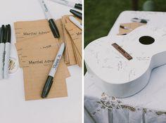 chelsea & corey | north carolina diy backyard wedding | guitar wedding advice box