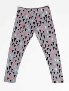 Stalactite Leggings in Mint Rust and Black by thiefandbanditkids