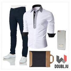 Doublju Mens Casual Pin Stripe Patched Pocket Slim Casual Shirts #doublju #doubljumen #fashion #mensstyle  #summerstyle #spring #dailylook